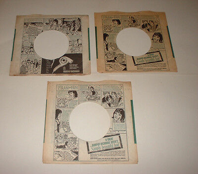 original 1 x PARLOPHONE FRAN the FAN various RECORDS company sleeve beatles