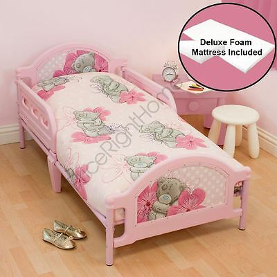 Me To You Junior Toddler Bed + Deluxe Foam Mattress Pink Girls Tatty Teddy