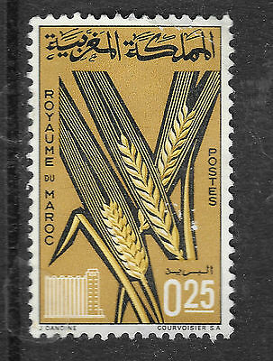 0.25 Morocco stamp shows wheat - see scan