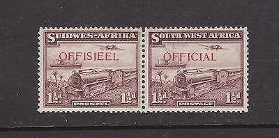 South West Africa O17 1938 Official Pair Mint HR Retail $36.50