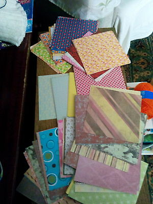 stack of square craft backing papers, different patterns