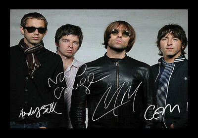 Oasis Signed Autograph A4 Framed Xmas Gift Present READ DESCRIPTION