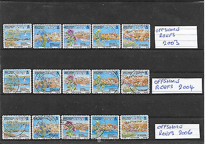 Jersey 3 Sets Of Used Stamps Offshore Reefs 2003/4/6 Nice Lot