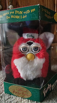 Furby 1999 Limited Edition Christmas Santa Toy - New in Box