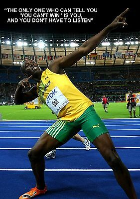 USAIN BOLT FASTEST MAN ON THE PLANET A3 POSTER AMK1531