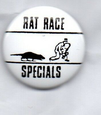 THE SPECIALS Rat Race BUTTON BADGE 2-TONE SKA REVIVAL BAND  25MM Pin
