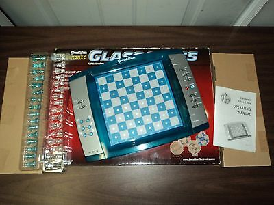 Excalibur Electronic Glass Chess Model 775 Excellent Condition w/ Box Complete