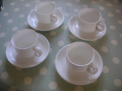 John Lewis White Expresso coffee cups and saucers