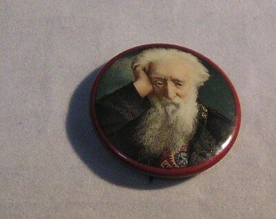 """Salvation Army - SMALL 1 1/4"""" PINBACK WITH CLASSIC PICTURE OF WILLIAM BOOTH"""