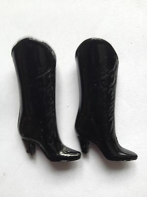 Vintage French Metal Miniature High Heeled Boots Decorative Scrolls 2 inchs High