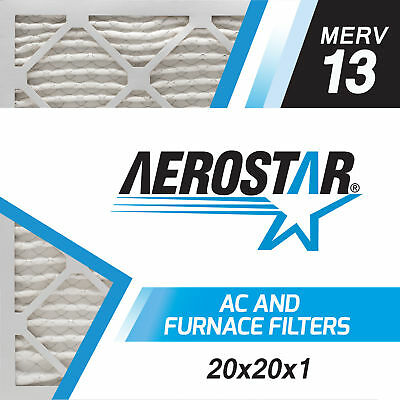 20x20x1 Furnace and AC Air Filter by Aerostar - MERV 13, Box of 12