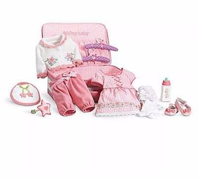 "NEW American Girl BITTY BABY DELUXE LAYETTE SET for 15"" Dolls Starter SEt"