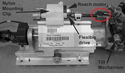 Range Rover L322 steering column part, one very useful nut for the reach spindle