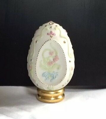 Franklin Mint Ornamental Bas Relief Egg with Information Card.