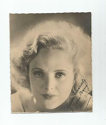 Joan Barry English Actress Photograph Signed (Uncertified) 1932