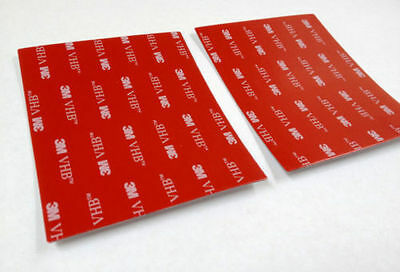 3M VHB Acrylic Foam Tape 4646 F tabs rectangles x2 Double sided adhesive 97x78mm