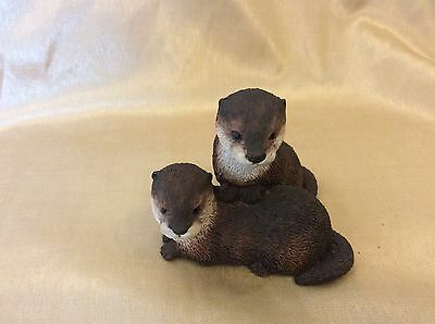 Border Fine Arts Water Babies Otters society ornament