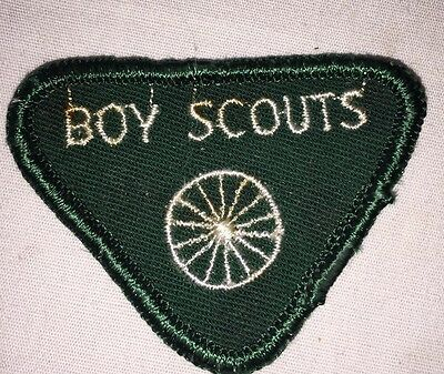 Boy Scout Badge Vintage 1950'S Fabric, Green Free Shipping