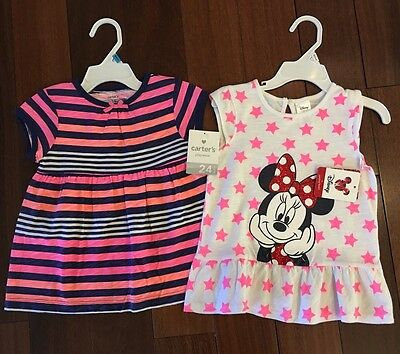 2 NWT Girls Size 2 (24mo) Carter's & Disney Shirts