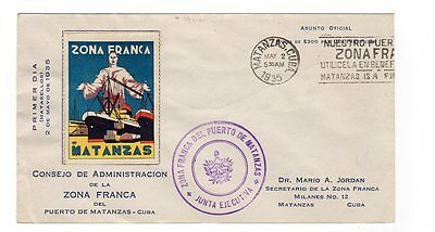 First Day Cover - Zona Franca  1935