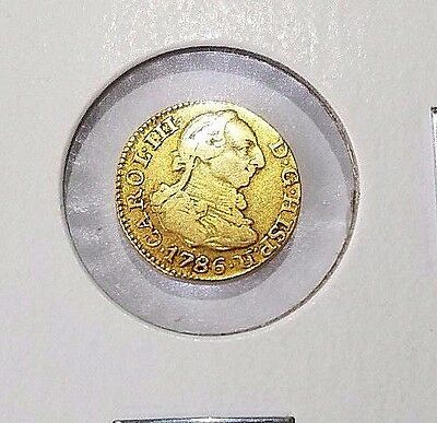 OLD US GOLD 1/2 Escudo 1786 Madrid Mint Spanish Colonial