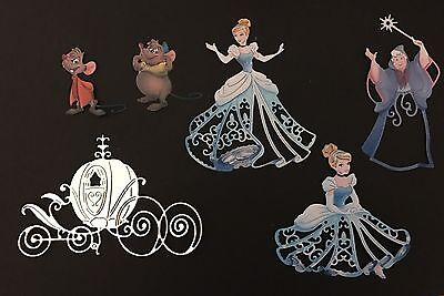 Selection Of Disney Themed Cinderella Die Cut Toppers
