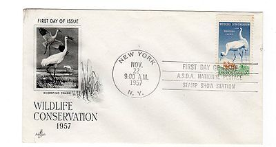 First Day Cover - USA 1957 Wildlife Conservation
