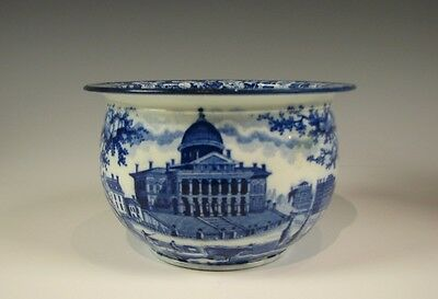 American Historical Dark Blue Staffordshire Boston State House Handled Cup