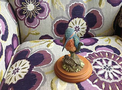 Views Of Nature Kingfisher Sea & Lilly Ornament