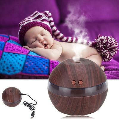Air Aroma Essential Oil Diffuser LED Ultrasonic Aromatherapy Humidifier Black WT