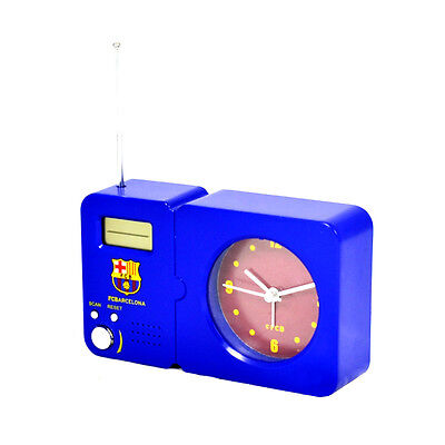 Official Licensed Football Club Barcelona Radio With Clock Blue Crest Bedroom