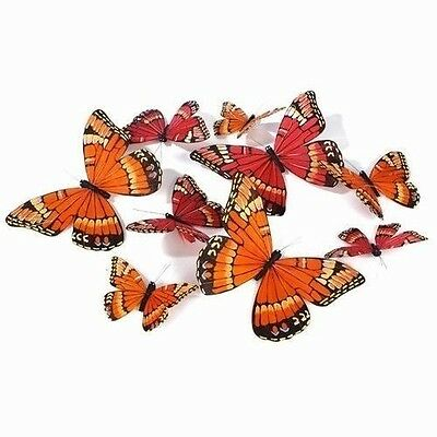 Garland with 9 Monarch Butterflies of Different Sizes