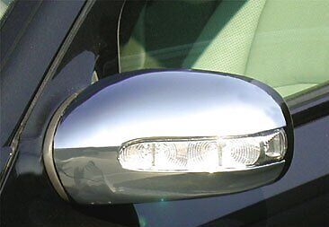 Mercedes W211 E Class 2002-09 Chrome Mirror Covers Caps Moulding Wings Amg Style