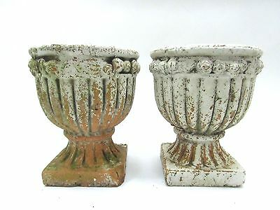 "CHIC 8"" French Urn Planter Flower Plant HERB Pot Pedestal Planter shabby Antique"