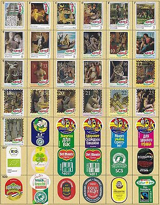 Ecuador Costa Rica Colombia Banana Labels Stickers Collection 152 Different