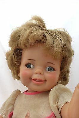 Vtg 1966 1967 GIGGLES DOLL IDEAL No Giggle Eyes Head Move  18""