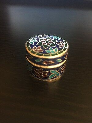 Stunning Imperial Russian Styled Solid Silver Cloisonné Enamel Snuff Trinket Box