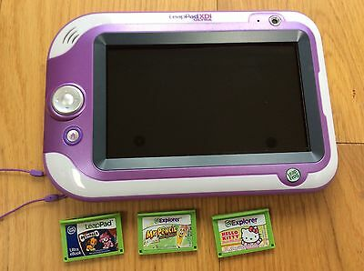 LeapPad XDi Ultra Pink Extra Games With Box