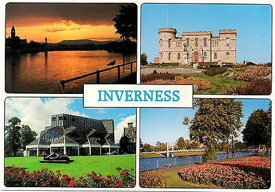 Inverness - Multiview - Scotland - Postcard 1995