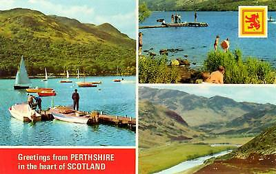 Greetings from Perthshire - Scotland - Dennis Postcard 1977