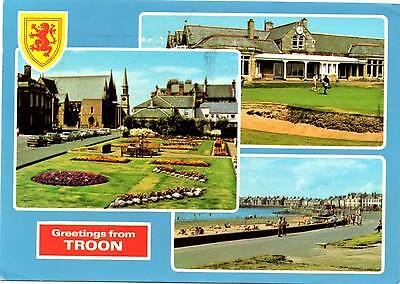 Greetings from Troon - Multiview - Scotland - Dennis Postcard 1986