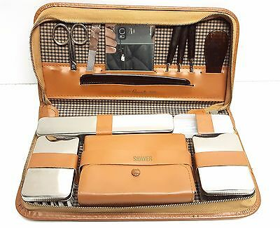 Vintage Grooming Kit from Western Germany shaving kit/leather case sGrants
