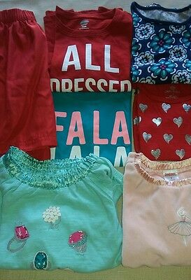 7pc Lot of Tops Skirt Size 5/5T Multi-Color Long Short Sleeve Gymboree Old Navy