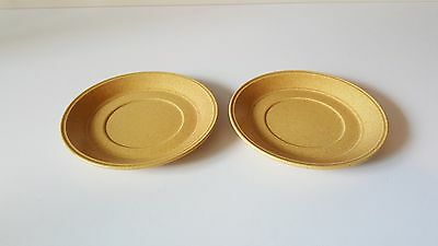 Kiln Craft Set of two Saucers, Bacchus Pattern, 1970's