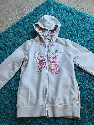 Girls Butterfly Tu Zip Hoodie Age 9 Years