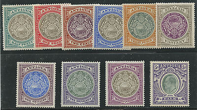 Antigua 1903 KEVII issue complete Sc #21-30 mlh/hr