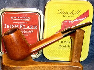 PreSmoked SAVINELLI – STRAIGHT GRAIN, Lumberman shape, briar pipe, smooth finish