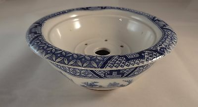 Vintage Booths Georgian Shape Willow Blue & White Soap Dish & Drainer 1930 VGC