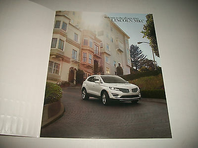 2015 Lincoln Mkc Deluxe Sales Brochure Excellent Clean With No Dealer Stamp