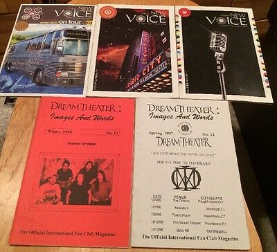Dream Theater FANZINE LOT DTIFC Images And Words 1996-97 UK New Voice 2005-07